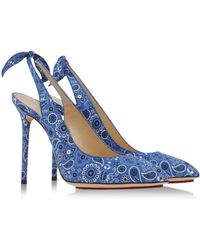 Charlotte Olympia Sling-Backs blue - Lyst