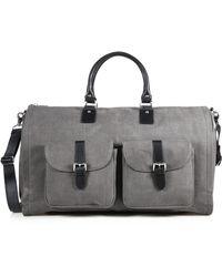 Hook + Albert - Waxed Canvas & Leather Duffel Bag - Lyst