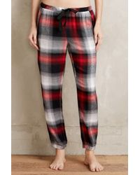 Cloth & Stone - Flannel Joggers - Lyst