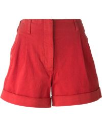 Etro Red A-Line Shorts - Lyst