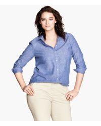 H&M Linen Blend Shirt - Lyst