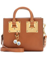 Sophie Hulme Box Tote Leather Bag - Lyst