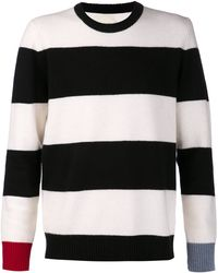 Band Of Outsiders Black Striped Sweater - Lyst