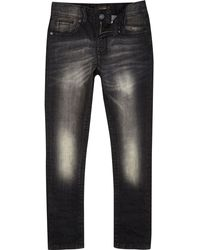 River Island Boys Black Skinny Sid Jeans - Lyst