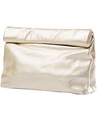 Marie Turnor Leather Lunch Bag Clutch - Lyst