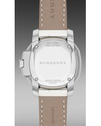 Burberry Brit - The Britain Bby1800 34mm Diamond Bezel - Lyst
