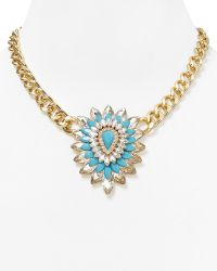 """Lydell NYC - Flower Pendant Necklace, 16"""" - Lyst"""