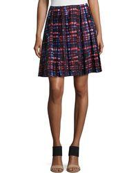 Risto - Pleated Plaid Skirt - Lyst