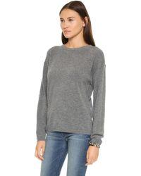 Earnest Sewn - Dylan Boyfriend Sweater - Grey - Lyst