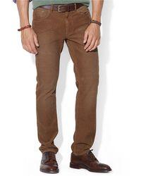 Polo Ralph Lauren Straight Fit Five Pocket Corduroy Pants - Lyst