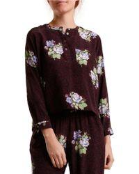 Svilu - Floral Print Silk Top - Lyst