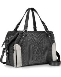 Jean Paul Gaultier - Black Quilted Leather Small Satchel - Lyst