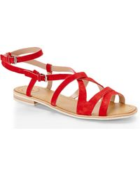 French Connection Red Harper Sandals - Lyst