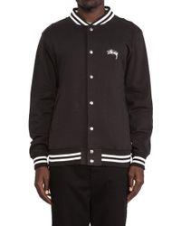 Stussy Fleece Varsity Jacket - Lyst