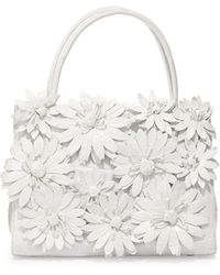 Nancy Gonzalez Crocodile Flower Small Top Handle Bag - Lyst