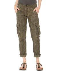 Bliss and Mischief - Oil Wash Basquiat Trousers - Oil Wash Khaki - Lyst