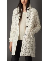 Burberry Embroidered Lace Coat - Lyst