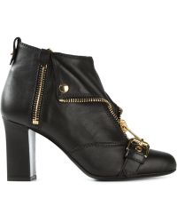 Moschino Biker Jacket Effect Ankle Boots - Lyst
