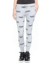 Zoe Karssen Slim Fit Bat Sweatpants - Grey Heather - Lyst