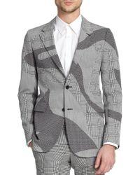 Alexander McQueen Black Houndstooth Sportcoat - Lyst