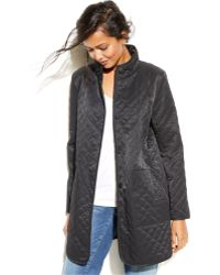 Eileen Fisher Lightweight Quilted Barn Jacket - Lyst