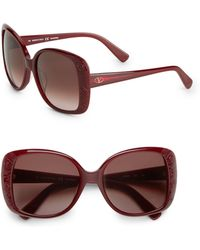 Valentino 56mm Oversized Square Sunglasses - Lyst