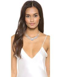 Tom Binns - Madame Dumont Symmetrical Necklace Clear White - Lyst
