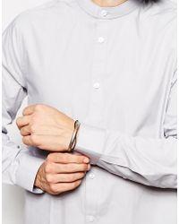 Asos Smart Shirt in Long Sleeve with Grandad Collar - Lyst