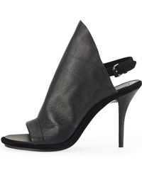 Balenciaga Leather Glove Sandal Black - Lyst