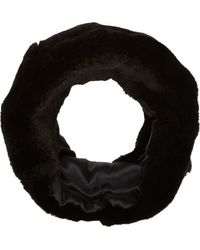 Barneys New York Black Fur Cowl - Lyst