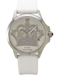 Juicy Couture 1901095 Silver-Tone & White Watch - Lyst