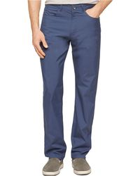 Calvin Klein Checked Slim-Fit Five-Pocket Pants blue - Lyst