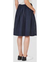 Steven Alan - Dahlia Skirt Sheer Navy Check - Lyst