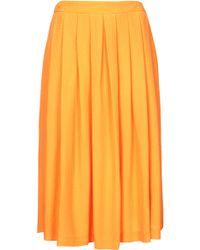 Topshop Petite Full Midi Skirt - Lyst