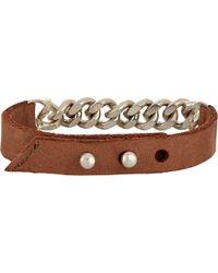 Loren Stewart - Leather & Chain Bracelet - Lyst