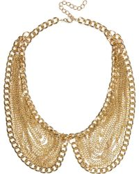 River Island Gold Tone Draped Chain Collar Necklace - Lyst