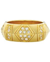 House Of Harlow 1960 Pave Thick Stack Ring gold - Lyst