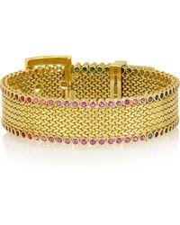 Aurelie Bidermann 18-karat Gold Sapphire and Diamond Bracelet - Lyst
