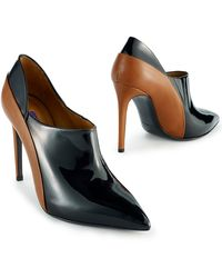 Ralph Lauren Two-toned Leather Ceron Bootie - Lyst