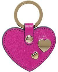Mulberry - Heart Rivet Keyring - Lyst