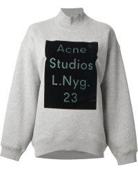 Acne Studios Beta Flock Oversized Turtle Neck Sweatshirt - Lyst