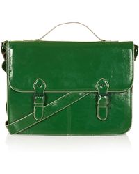 Topshop Large Edge Paint Satchel - Lyst