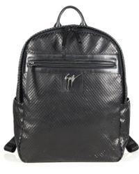 Giuseppe Zanotti Lindos Textured Leather Backpack black - Lyst