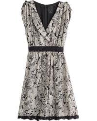 Anna Sui Tropical Print Silk Dress - Lyst