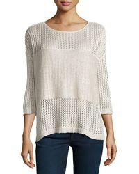 Alice + Olivia Scoopneck 34sleeve Sweater - Lyst