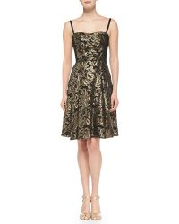 Nanette Lepore Spotlight Metallic Jacquard Dress - Lyst