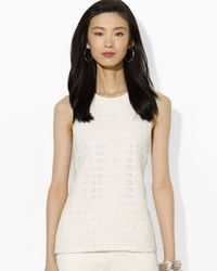 Ralph Lauren Lauren Dezenza Embroidered Lace Top - Lyst