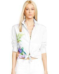 Ralph Lauren Black Label Cotton Voile Antoinette Shirt - Lyst