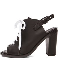 Rag & Bone Trafford Leather Heels black - Lyst
