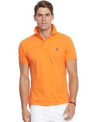 Polo Ralph Lauren   Custom-fit Mesh Polo Shirt   Lyst